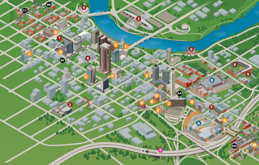 Experience Columbus Interactive Map